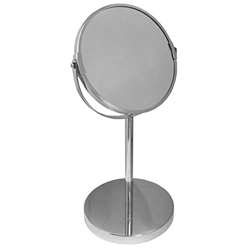TheBigShipR Round Swivel Table Bathroom Shaving Make Up Mirror Chrome Finish 1 Piece