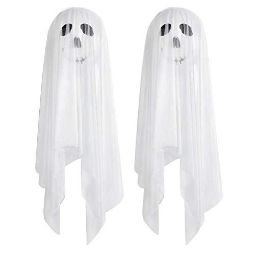 TOYANDONA 6pcs Halloween Ballons Dekoration Ghost Ballons Halloween Ghost Dekoration mit weißem Tüll und doppelseitigem Klebstoff für Halloween Party Supplies (Weiß)