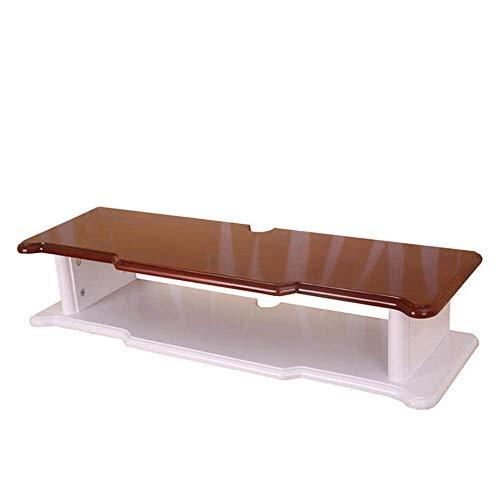 Willesego Set-Top-Box-Racks Schwimmrahmen anhängbar Fernsehmöbel Multimedia-Zubehör Wandregal aus Massivholz, Verschiedene Größen (Farbe: BRAUN, Größe: 60 * 24 * 15 cm)