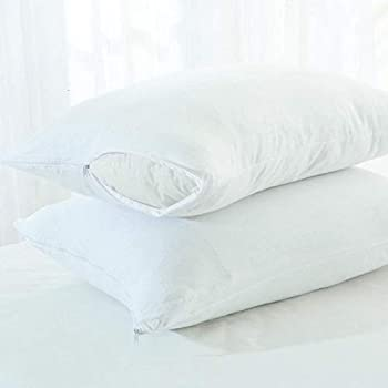 Sleeprest Cotton Waterproof dustproof Pillow Protector 18 x 28-inch, White (46 X 71 cm) - Set of 2 Cover Only