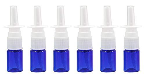 6 x 5 ml Nachfüllflaschen aus Kunststoff für Kosmetika, Reiseverpackung, Nasenspray, für kolloidale Silber- und Kochsalzanwendungen. 5ml blau