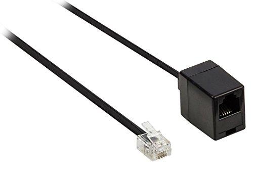 Rj11 Buchse Telefon (Valueline Telefonverlängerungskabel (RJ11-Stecker auf RJ11-Buchse, 10 m) schwarz)