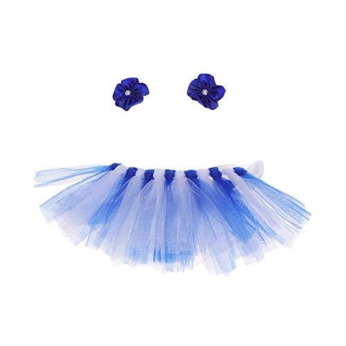 Balacoo Hund Tutu-Hund Ballerina kostüm welpe Katze Prinzessin Tutu Kleid mit Kopfbedeckung Halloween Party röcke Kleidung kostüm Bekleidung-blau (Ballerina Katze Kostüm)