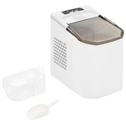 Festnight- Eiswürfelbereiter Eiswürfelmaschine Eismaschine LED-Display Weiß 1,4 L 15 kg / 24 h