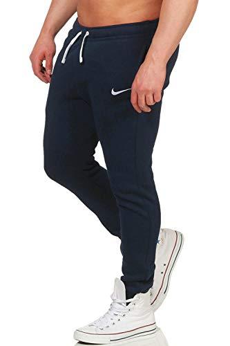 bfed6c9f5df8 Nike CFD Pant FLC Tm Club19, Pantaloni Uomo, Blu (Obsidian White 451)