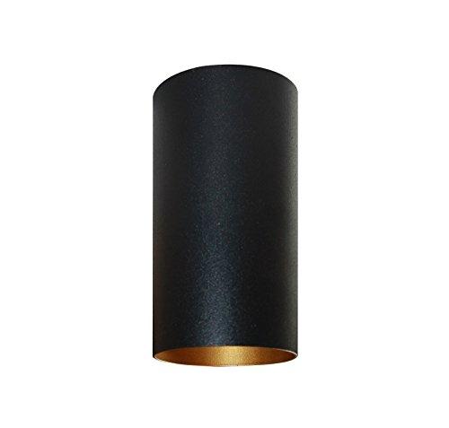 3er SET Aufbau-Deckenstrahler rund – schwarz gold – GU10