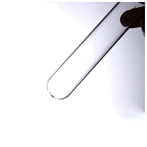 SUNLIFE 20 Paquetes de Tubos de ensayo de Vidrio Transparente, Equipo de Laboratorio sin Escala