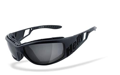 Helly® - No.1 Bikereyes® | beschlagfrei, winddicht, HLT® Kunststoff-Sicherheitsglas nach DIN EN 166 | Motorradbrille, Bikerbrille, Sportbrille |