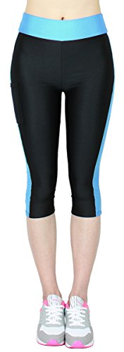 Caprihose Damen 3/4 Fitness Leggings mit Tasche - 3