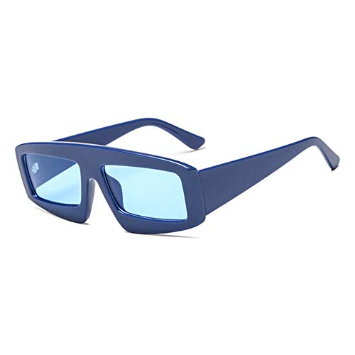 Siwen New Übergroße Damen Square Sonnenbrille Herren Blue Tinted Shades Uv400,Blau