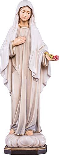 Ferrari & Arrighetti Imagen Virgen de la Paz en Talla de Madera Pintada a Mano - Mide 12 cm - Demetz Deur