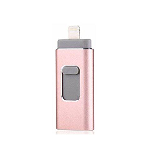 FeliSun 64GB USB i-Flash Drive Memory Stick Memory Stick Speicherstick Card Reader Adapter Kartenleseradapter with DREI Interfaces Ipod-flash-reader
