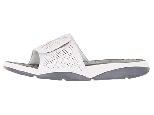 Nike Herren Jordan Hydro 5 Flip-Flops, Weiß Weiß (White/Cool Grey/Silver Metallic)