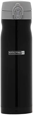 Royalford 500ml Vacuum Bottle – Double Wall, Stainless Steel, Hot & Cool, Vacuum Insulation, Leak-Resistan
