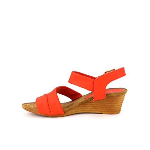 Cendriyon, Compensée Rouge simili cuir TAY'S Chaussures Femme Rouge