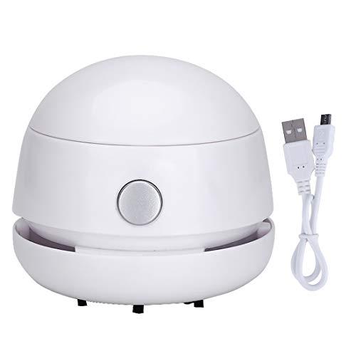 FineInno Akkusauger Mini-Sauger Tischstaubsauger Klein Handstaubsauger Vacuum Cleaner für Büro zuhause und Auto (Weiß)