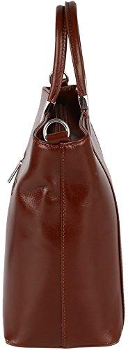 """""""Valentina"""" Handtasche / Henkeltasche aus Vachetteleder (Echt-Leder) Made in Italy Braun"""