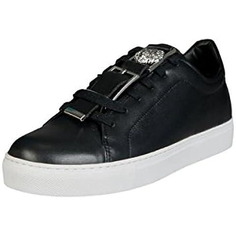 Versace - Zapatillas de Piel para hombre negro negro