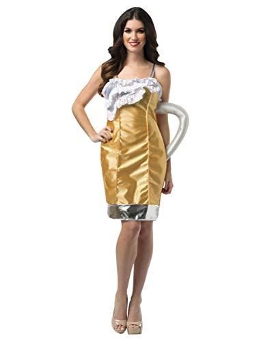 Horror-Shop Oktoberfest Bierkrug Kostüm für Damen an Fasching & zur Wiesn S/M (Bierkrug Erwachsenen Kostüme)