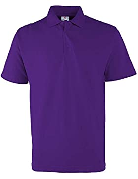 RTXtra Mens Classic Casual Colours Short Sleeve Pique Button Polo Shirt