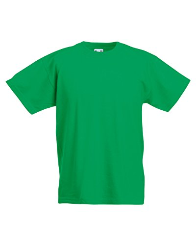 Fruit of the Loom Kids Original T Shirt - 21 Colours / Age 3 - Kelly Green - 911