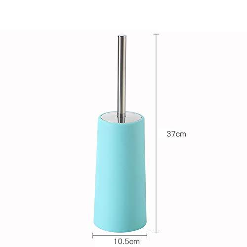 GJJ Toilettenreinigungs-Toilettenpinsel Plastik - Toilettenbürstenrost-Stahlgriff Mit Grundreinigungsbürstensatz,Grün,A