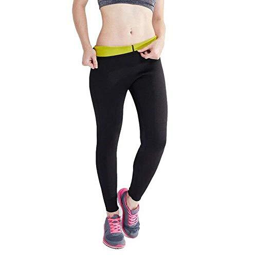 Novecasa pantaloni sauna donna neoprene compressione sportiva per sudorazione grasso bruciante ginnastica dimagrante yoga fitness (xl, pantaloni)