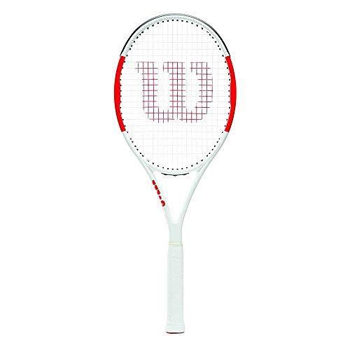 Wilson Tennisschläger, Six.One Team 95, Unisex, Ambitionierte Freizeitspieler, Griffstärke L2, Rot/Grau, WRT73640U2