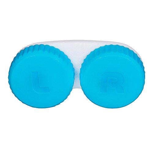 Astuccio Per Lenti A Contatto Blue Plain (Blu Semplice)