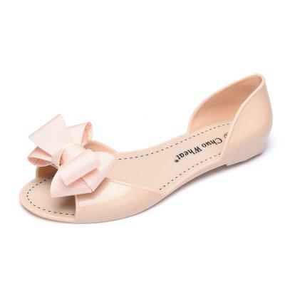 Zormey Sexemara 2017 Sommer Crystal Jelly Schuhe Weibliche Süße Open Toe Flachem Absatz Casual Strand Sandals Wohnungen Frauen Schuhe Mit Schleife S305 8
