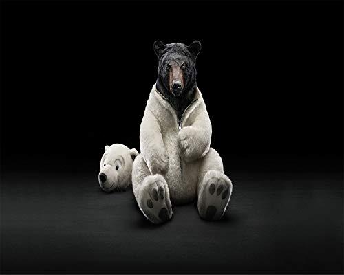 forin Puzzles Für Erwachsene DIY 1000 Stück Schwarzbär In Einem Kostüm Eines Eisbären Dekoration Puzzle Geschenk (Mutter Natur Kostüm Muster)