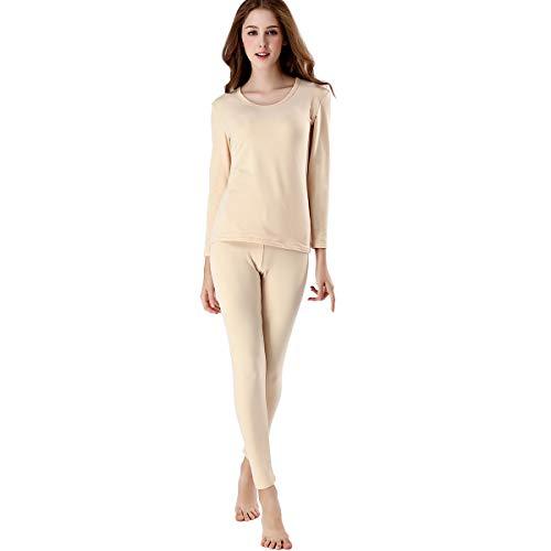 FZmix Women Thermal Underwear Set Base Layer Top & Leggings -