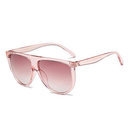 Xshuai Mode Unisex Vintage schattierte Linse dünne Gläser starke Anti-UV-Mode Aviator Sonnenbrillen (C)