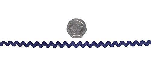 Marineblau Ric Rac 8mm Trimming Verkauft in Fünf Meter Längen -