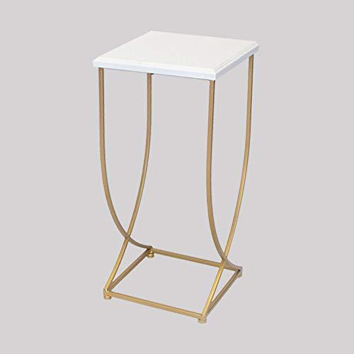 FEI Table basse de table d'appoint de table d'appoint latérale de table de nuit (Couleur : Blanc, taille : 30 * 30 * 63cm)
