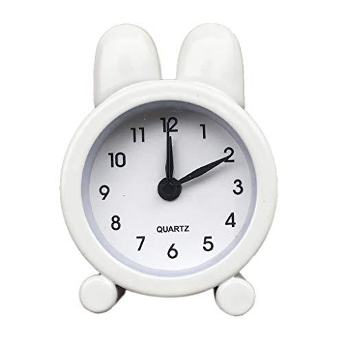 Chenang Creative Kleiner Wecker,Elektronik Kleiner Wecker,Metall Uhr Mini Wecker Analog,Süß Analoger Wecker Analog Quarzwecker Moderne Lernuhr,5 cm