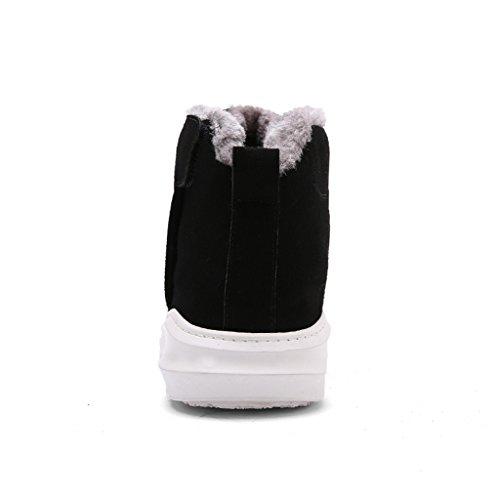 Eagsouni® Hommes Bottes de Neige Lacet Hiver Cheville Chaudes Fourrure Chaussures Sport Vert