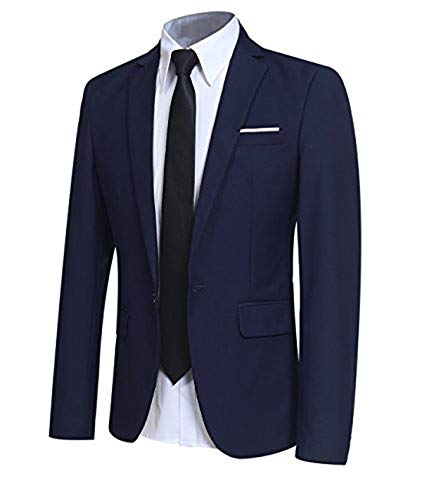 Allthemen blazer casual da uomo slim fit formale suit giacche one button monopetto tuxedo giacca smart blazer