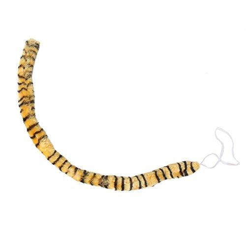 SODIAL(R) Neue Tier langen Schwanz Cosplay Weihnachten Halloween Kostuem Zubehoer (Tiger Druck) (Schwanz Kostüm Zubehör)
