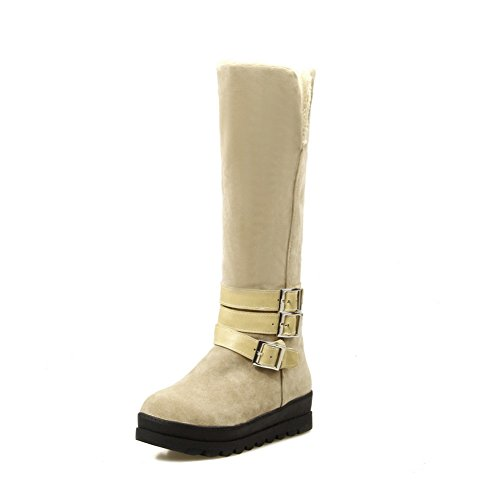 1to9-ladies-heighten-inside-pull-on-comfort-beige-frosted-boots-7-uk