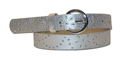 EANAGO Kindergürtel \'Silver Star\' für Mädchen (Kindergarten und Grundschulkinder, 5-10 Jahre), 65 cm, silber mit Glitzersteinchen
