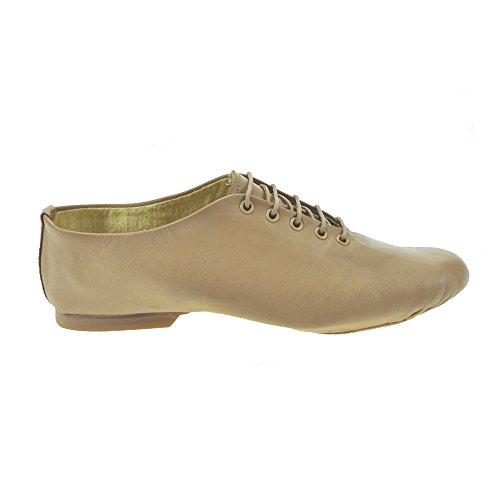 Starlite Effet de Split semelle en caoutchouc Jazz Shoes Bronzage