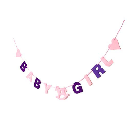 7thLake 2 Stücke Baby Shower Fühlte Banner Party Taufe Decor Bunting Favors Room Decor