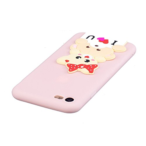 EUWLY Silicone Custodia per iPhone 7/iPhone 8 (4.7), 3D Creativo Cute Cartoon Animale Solid Modello TPU Cover Case per iPhone 7/iPhone 8 (4.7) Ultra Sottile Morbido Silicone TPU Cover Copertura Dive Orso