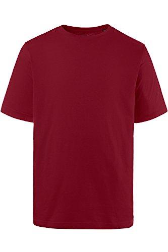 JP 1880 Herren große Größen bis 8XL, T-Shirt mit JP1880-Motiv auf der Brust, Basic-Shirt, Rundhalsausschnitt, Reine Baumwolle weinrot 7XL 702558 57-7XL