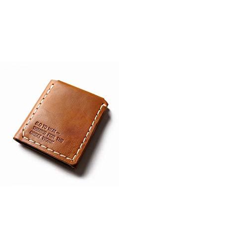 YDFGG Brieftasche Leder Geldbörse Herren Leder Geldbörse Vintage Handmade Wallet, Tan -