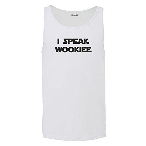 Brand88 - I Speak Wookiee, Unisex Jersey Weste Weiß