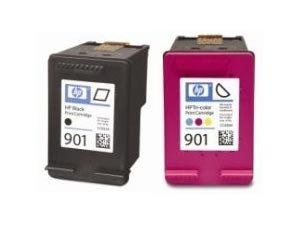 Preisvergleich Produktbild 1x Original Tintenpatrone HP 901 black (CC653AE)+1x Original Tintenpatrone HP 901 color (CC656AE)