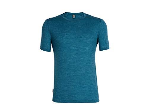 Icebreaker Herren Mens Sphere SS Crewe T-Shirt, Poseidon Hthr, L - Herren Icebreaker