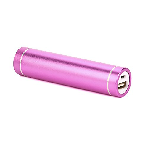 Vimoli 3000mAh Power Bank Portable Mini Power Bank Coloré Ultra Capacité pour iPhone X/ 6/7/ 8plus iPad Samsung Galaxy S8/9/Note9 Huawei Sony Tablette etc (Rose)